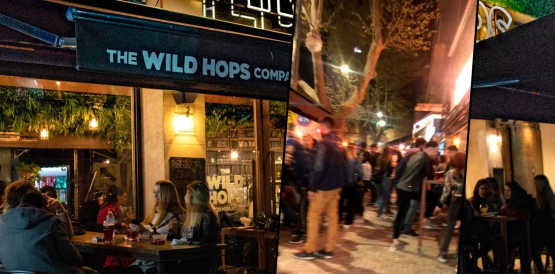 Wild Hops, la cervecería que se llenó de gente y quedó en la mira