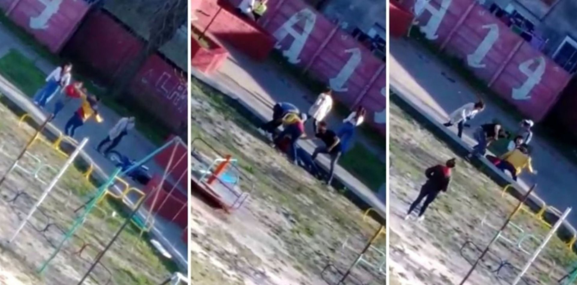 VIDEO: Atacaron con piñas y patadas a un joven y apuntan a la interna de la UOCRA