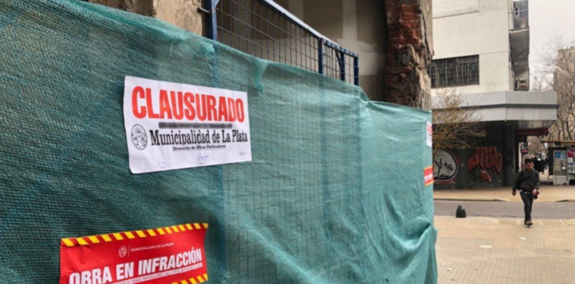 Así estaba la obra que fue clausurada en La Plata por estar al borde del derrumbe