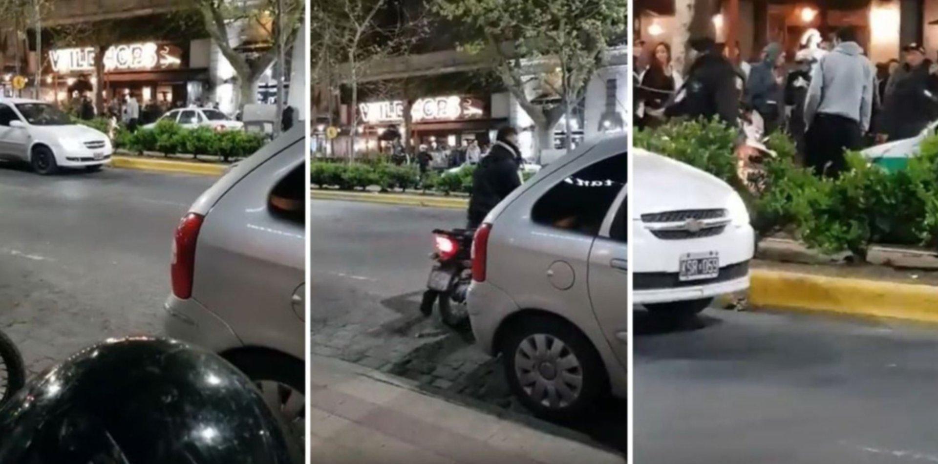 VIDEO: Choque, linchamiento y balas de goma en pleno centro de La Plata