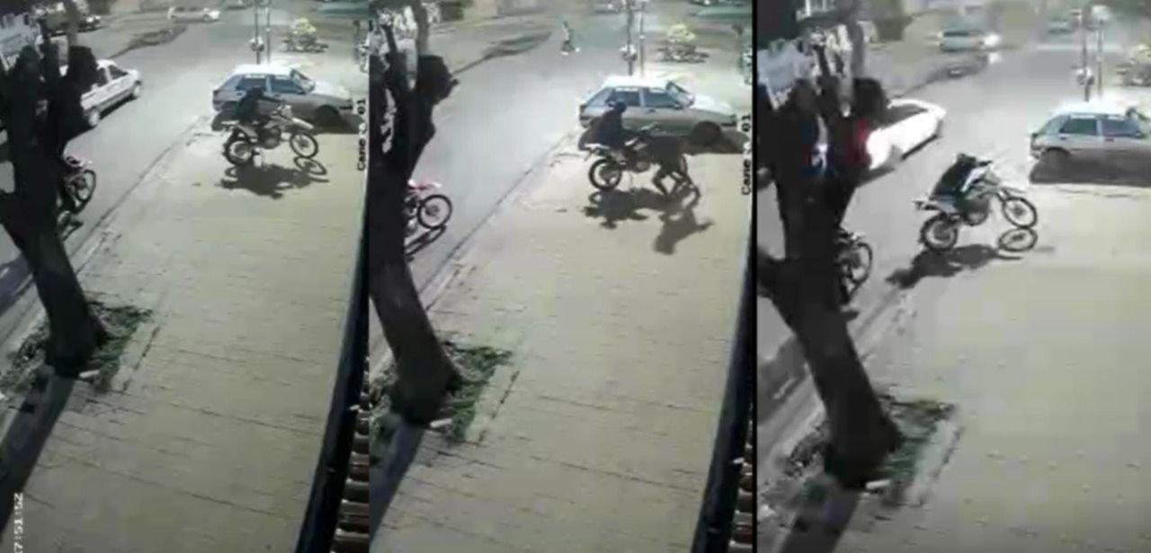 VIDEO: Se bajó a saludar a un amigo y en pocos segundos le robaron la moto en La Plata