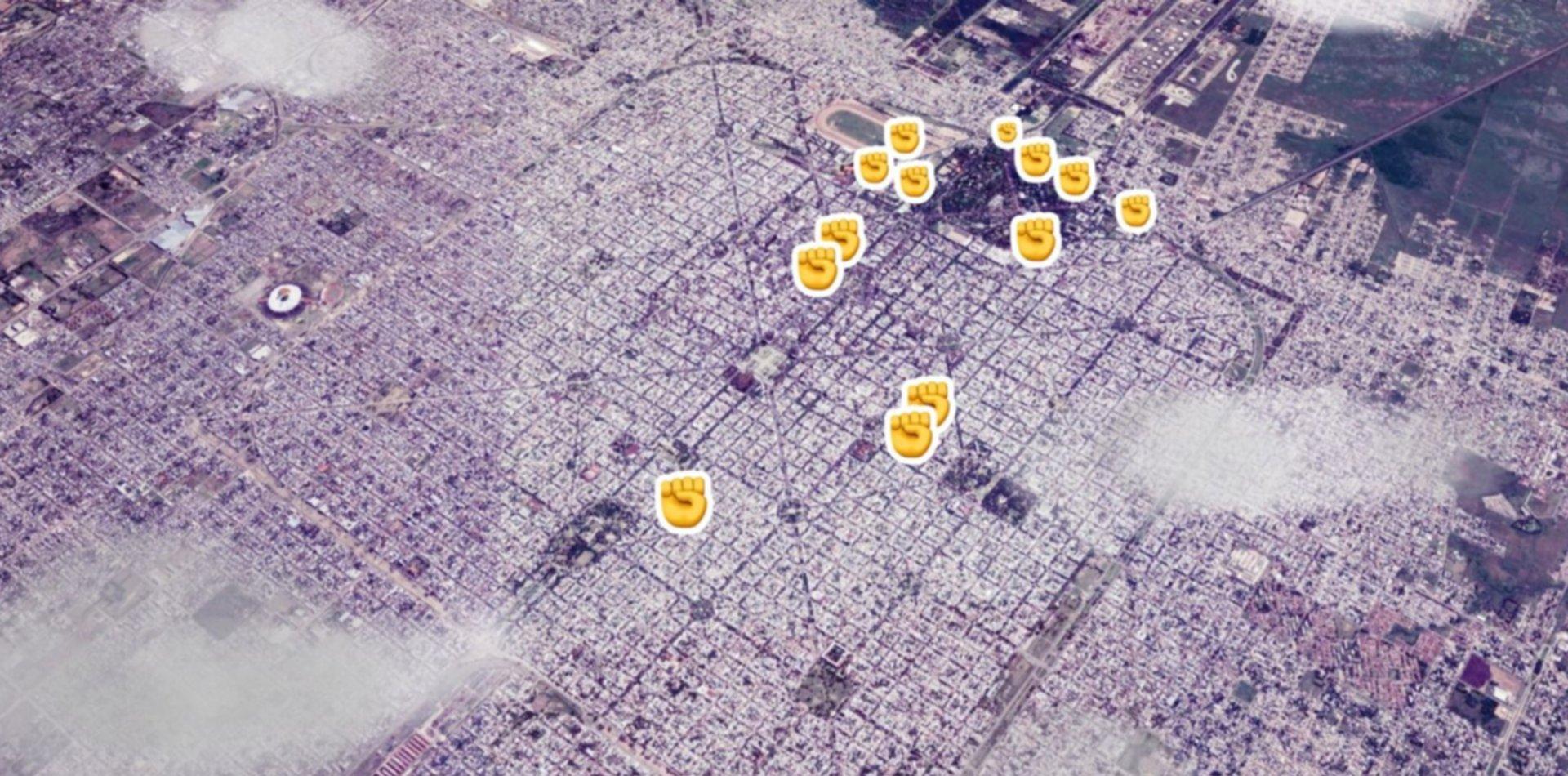 El mapa interactivo de los talleres del Encuentro Feminista: ¿dónde va a estar cada uno?