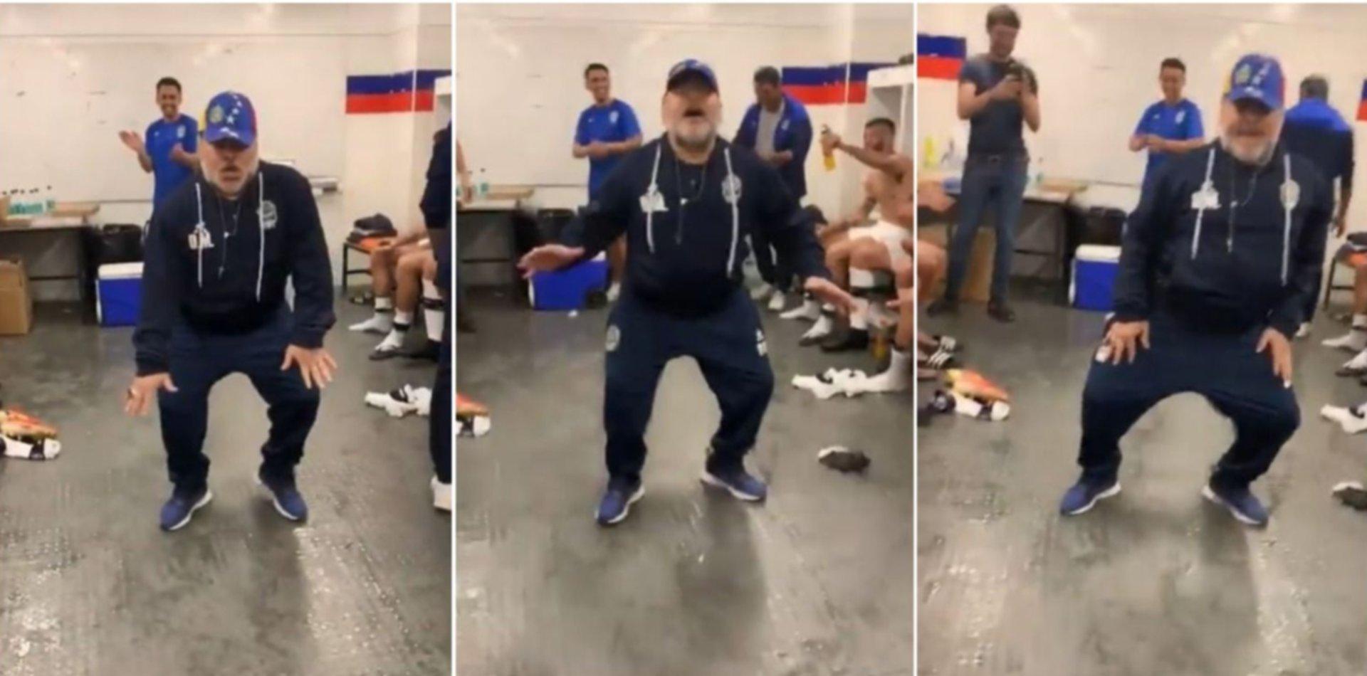 VIDEO: Un muñeco de Maradona bailando como en el Lobo hizo explotar las redes