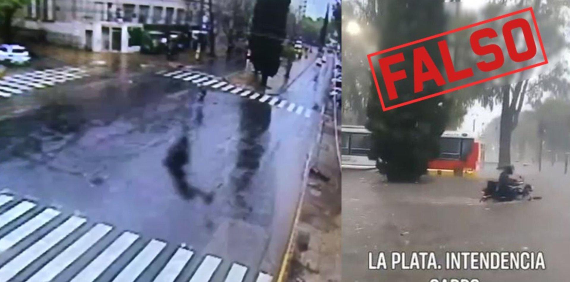 Campaña sucia en La Plata: difundieron un video de la ciudad inundada y era mentira