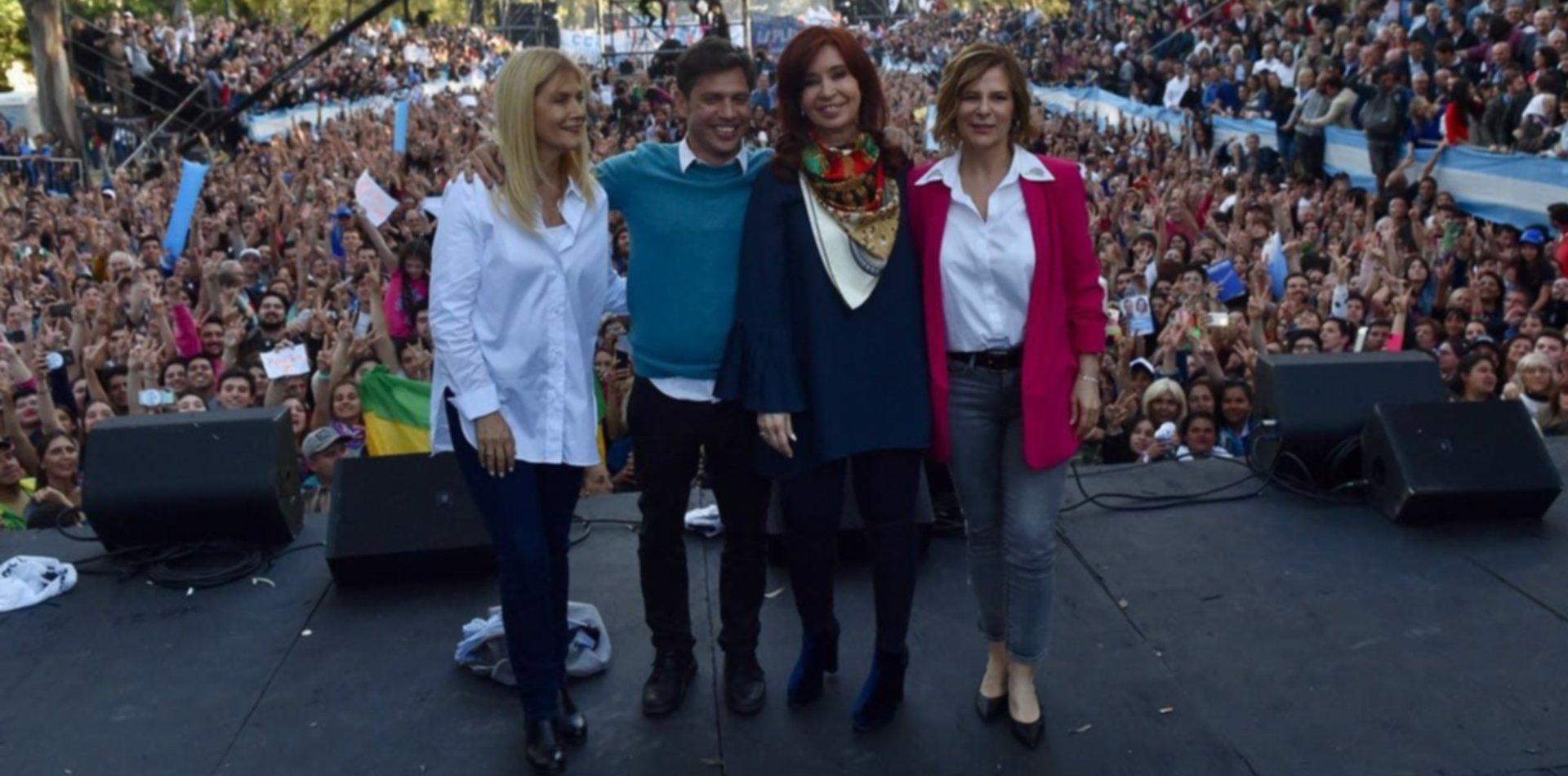 Las diez mejores frases del cierre de campaña de Cristina, Kicillof y Saintout