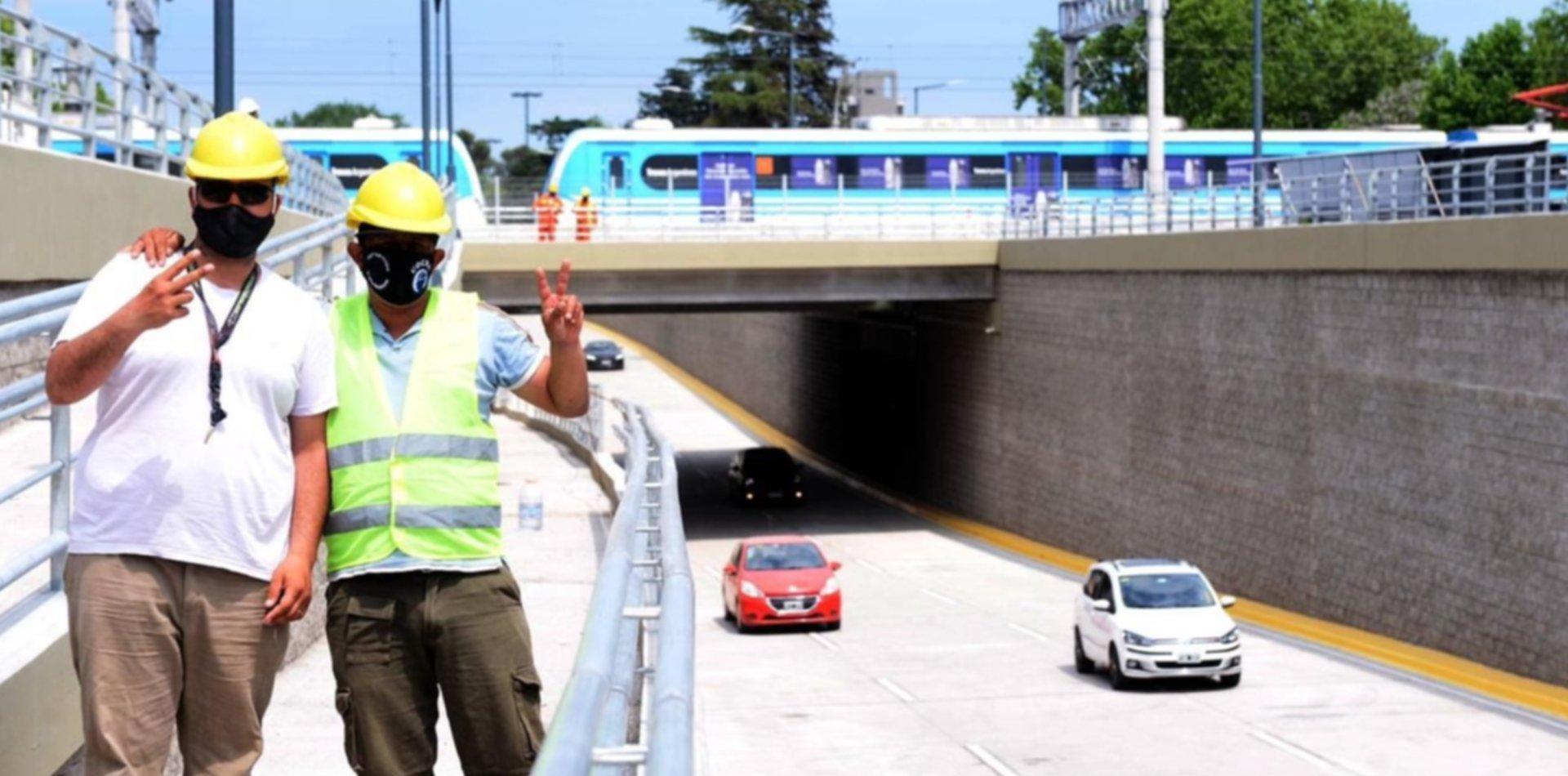 Quedó habilitado el tránsito de autos en el paso bajo nivel de 1 y 32