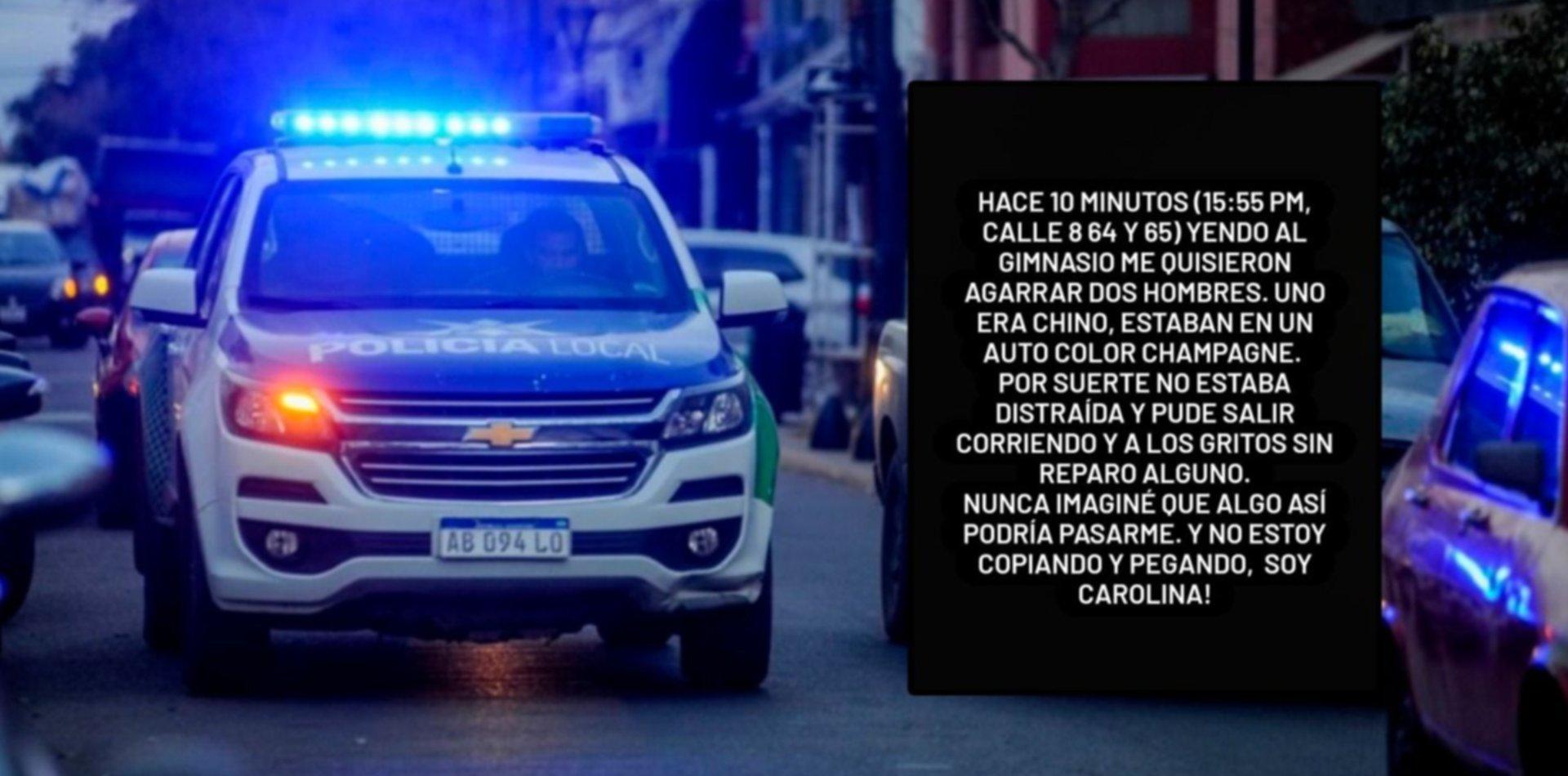 Preocupación en La Plata: una chica denunció que quisieron raptarla camino al gimnasio