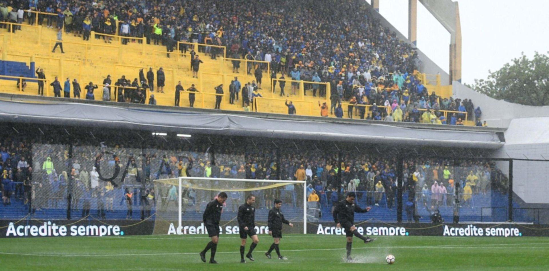 La Bombonera se inundó y la final de la Libertadores ya tiene nuevo día y hora