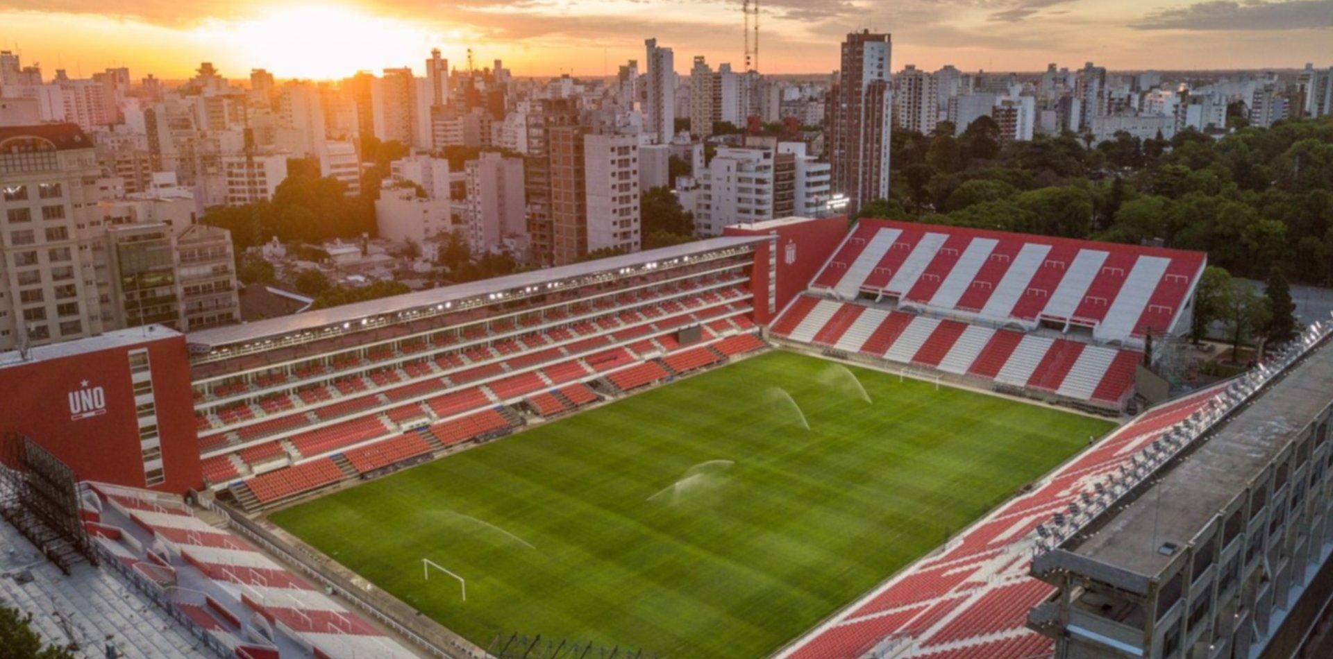 Las impactantes fotos desde el aire del estadio de Estudiantes