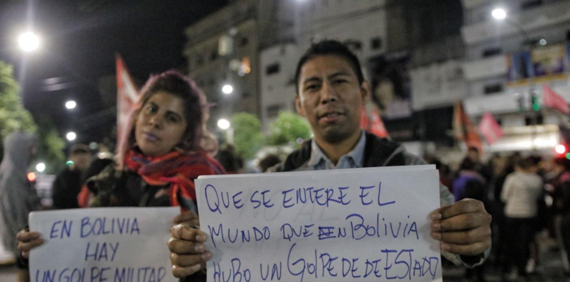 """""""Golpe de Estado"""": el apoyo a Evo Morales se hizo sentir en La Plata"""