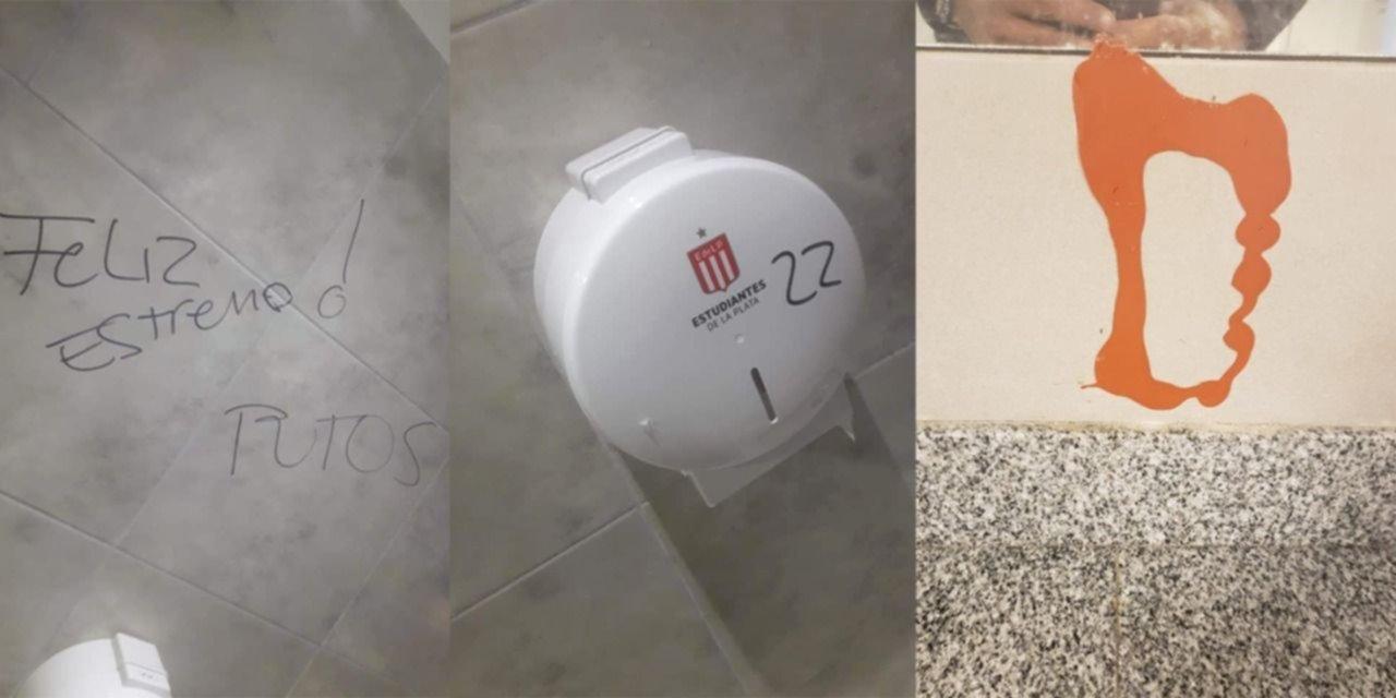 Los hinchas de Estudiantes explotaron por las pintadas de Gimnasia en 1 y 57