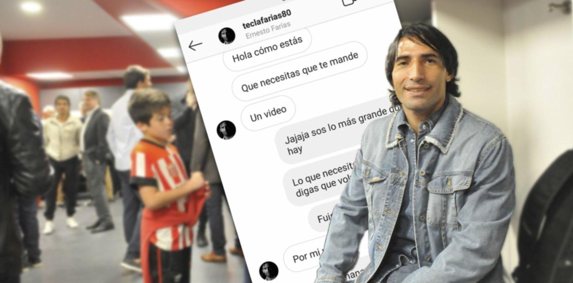 """La conversación entre el Tecla Farías y un hincha de Estudiantes: """"Por mí vuelvo"""""""