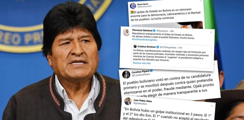 Una grieta divide a la política platense por el golpe de Estado en Bolivia