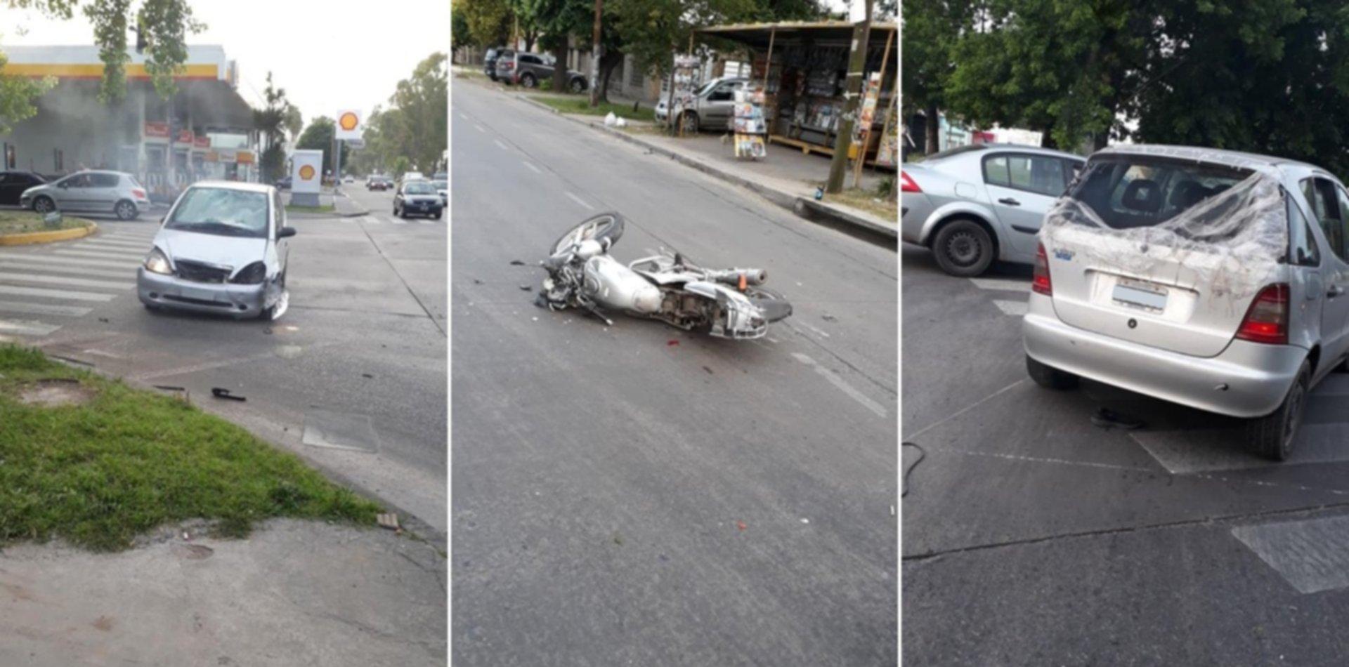 Tremendo choque en La Plata: atropelló a un motociclista y denuncian que lo dejó tirado