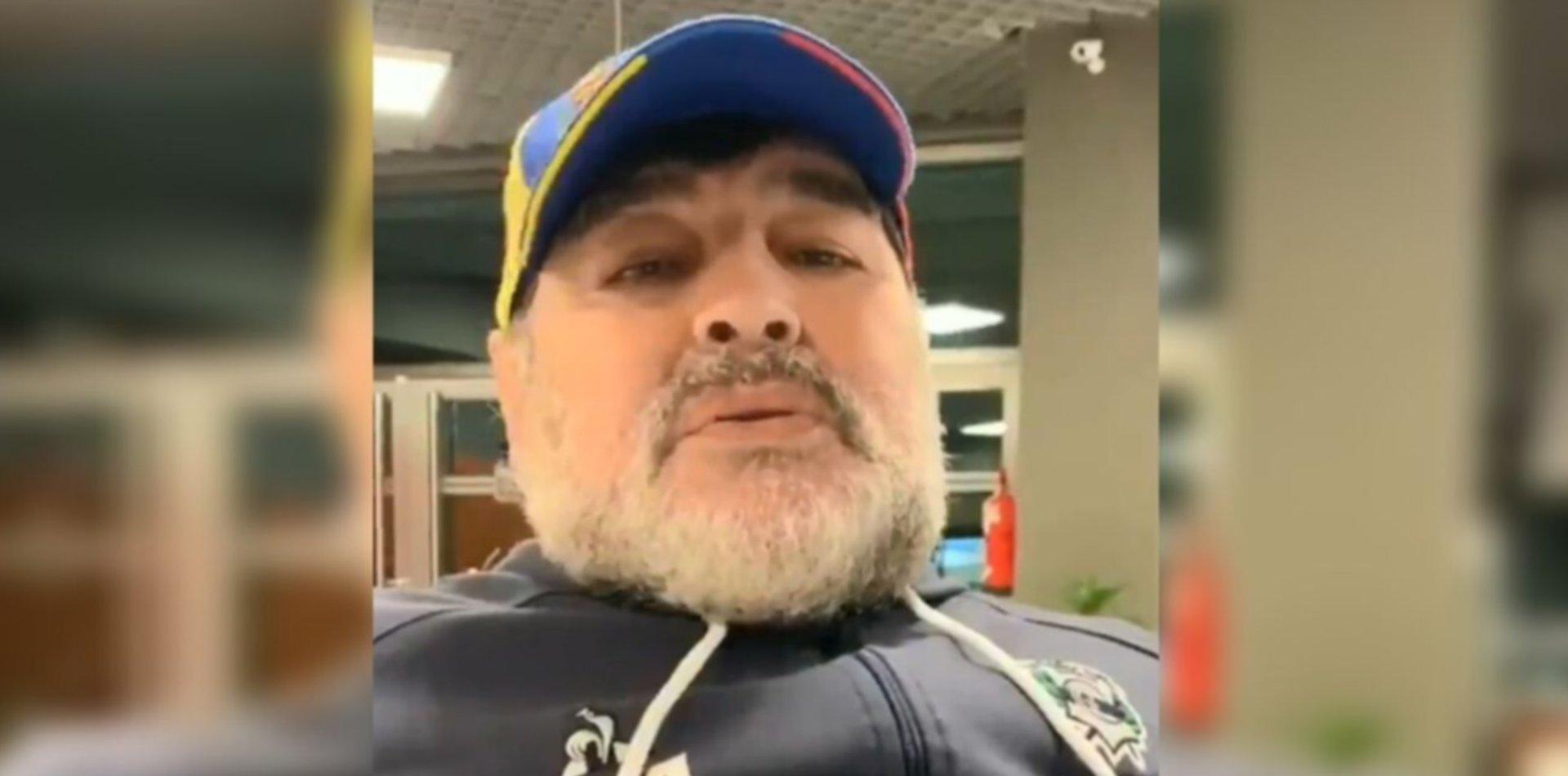 VIDEO: Maradona le mandó un mensaje a los jugadores del Estudiantes de Buenos Aires