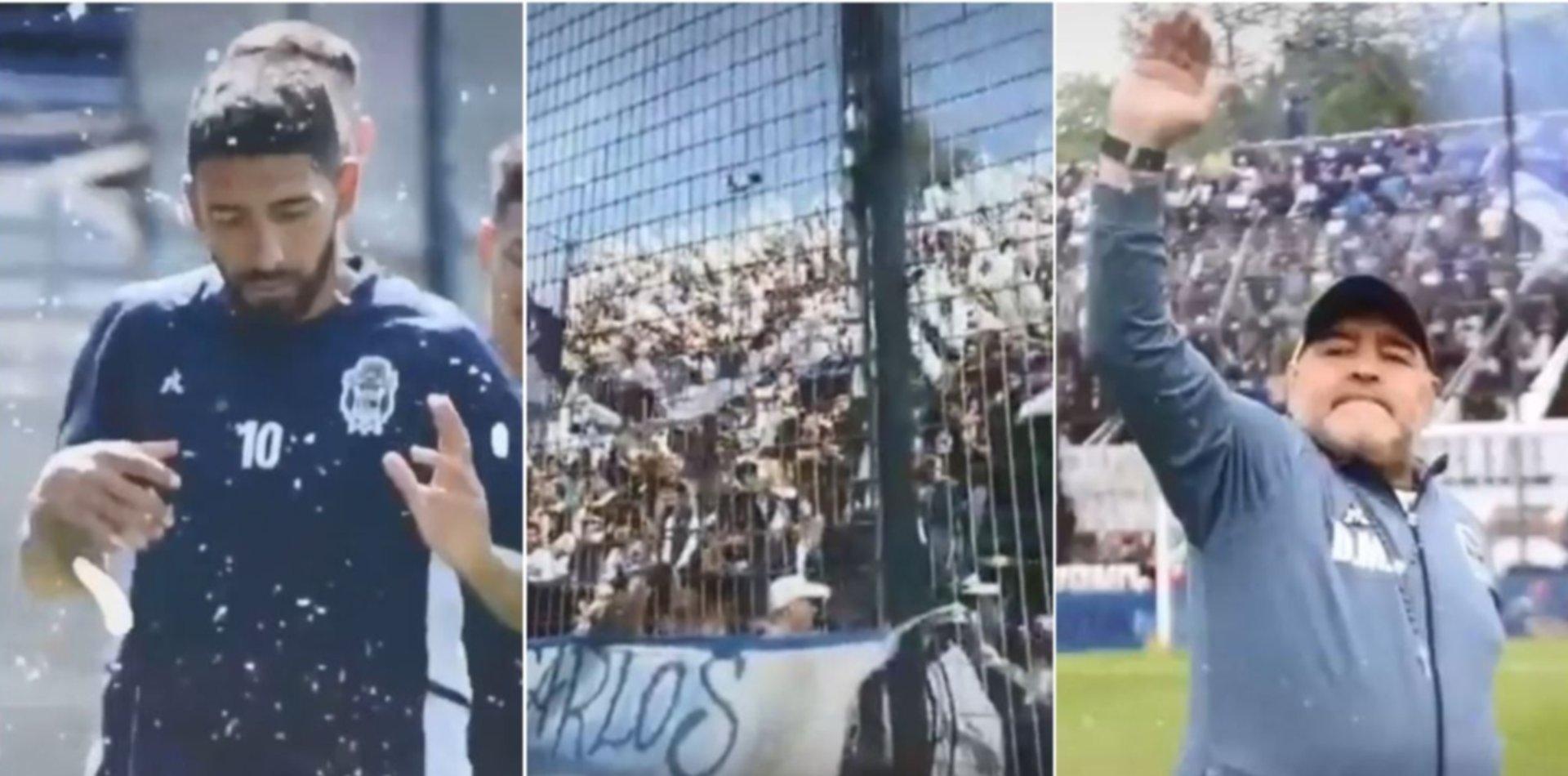 Gimnasia inauguró su cuenta de Tik Tok con videos de Diego Maradona bailando ATR