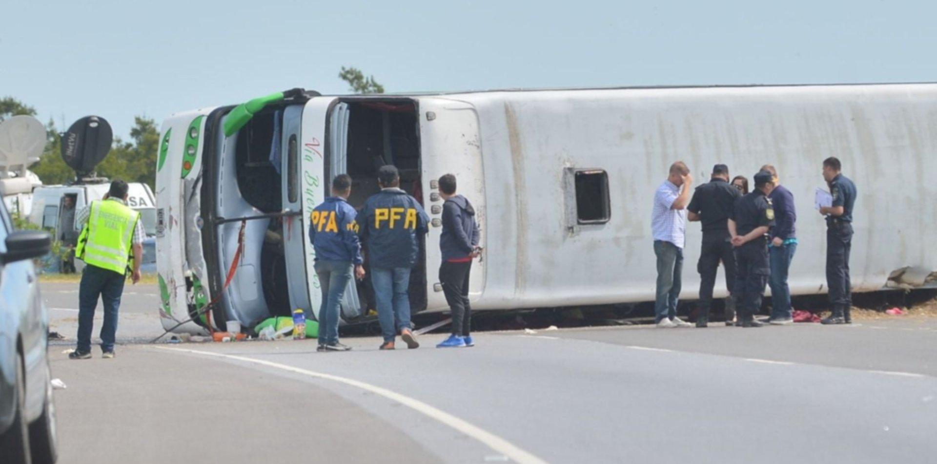 Liberaron al chofer del trágico vuelco en la ruta 2, pero no podrá volver a manejar