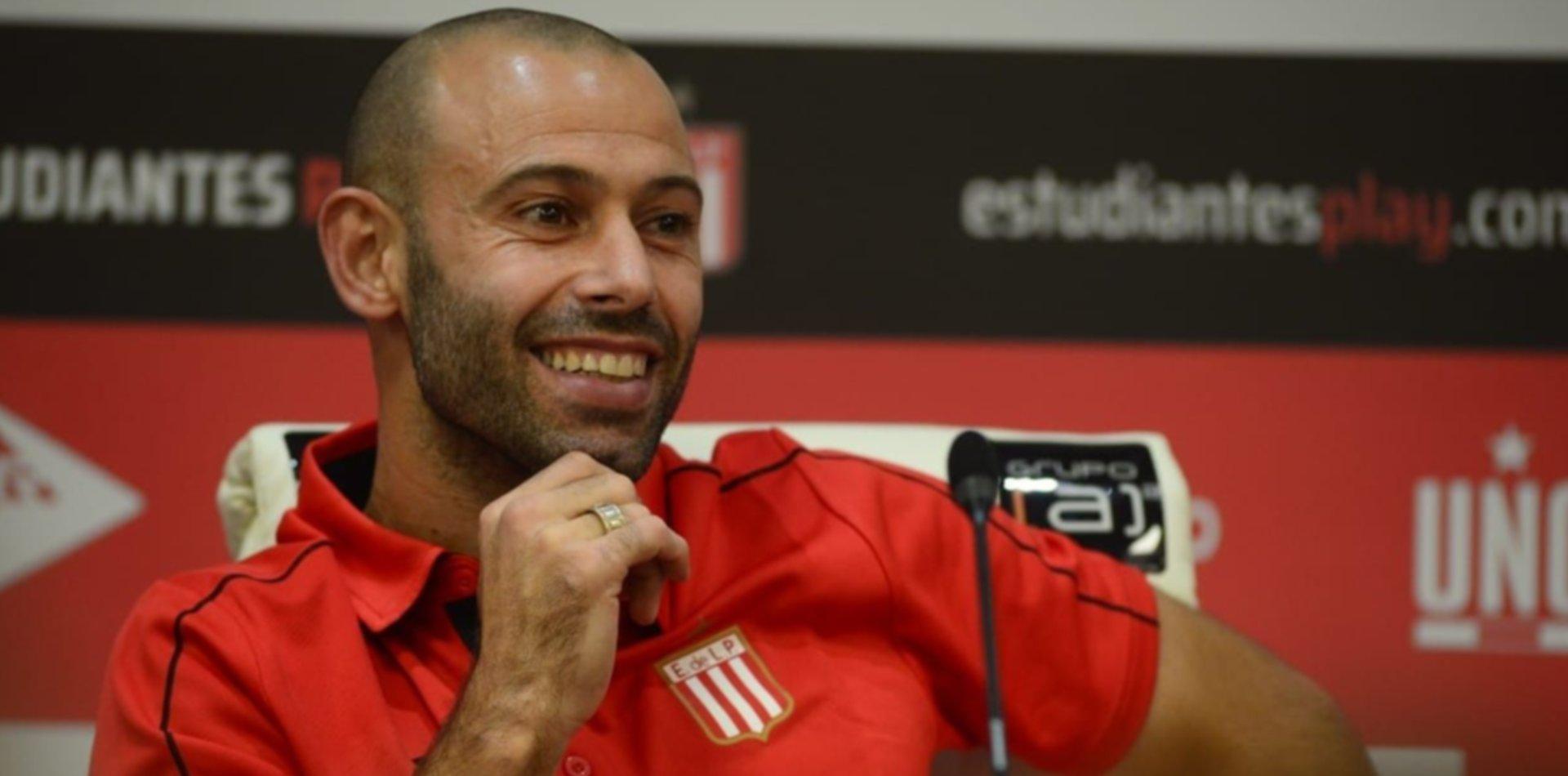 Estudiantes: Mascherano habló de Verón, el número de camiseta y recordó a Bilardo