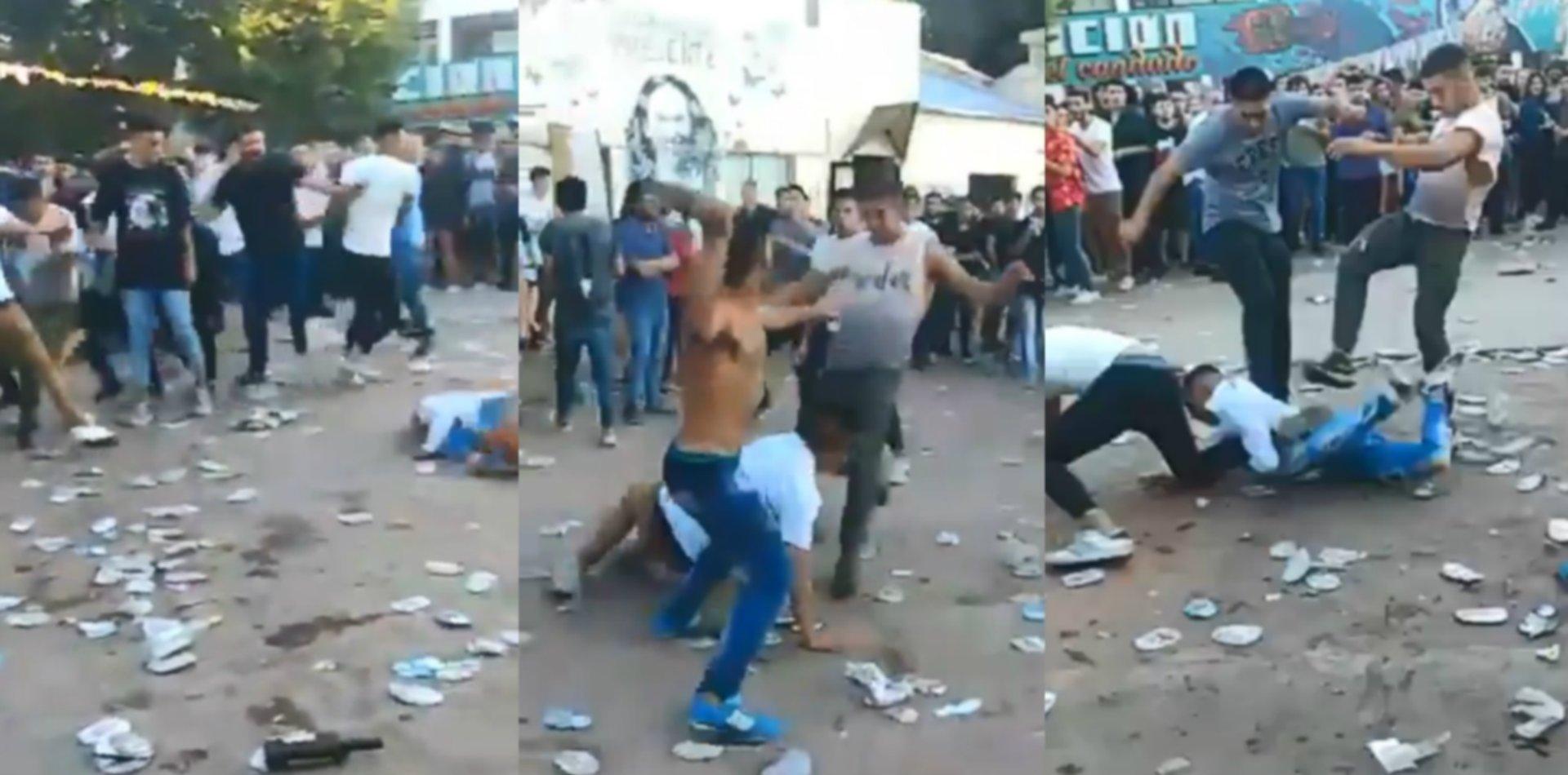 VIDEO: Tremenda batalla campal en una fiesta de egresados en Trabajo Social