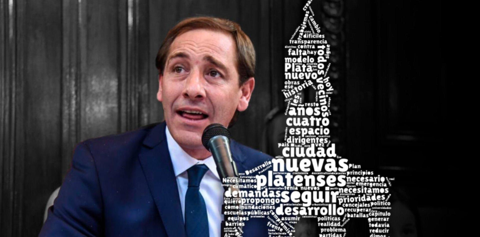 Platenses, ciudad y desarrollo,  las palabras más usadas por Garro en su discurso