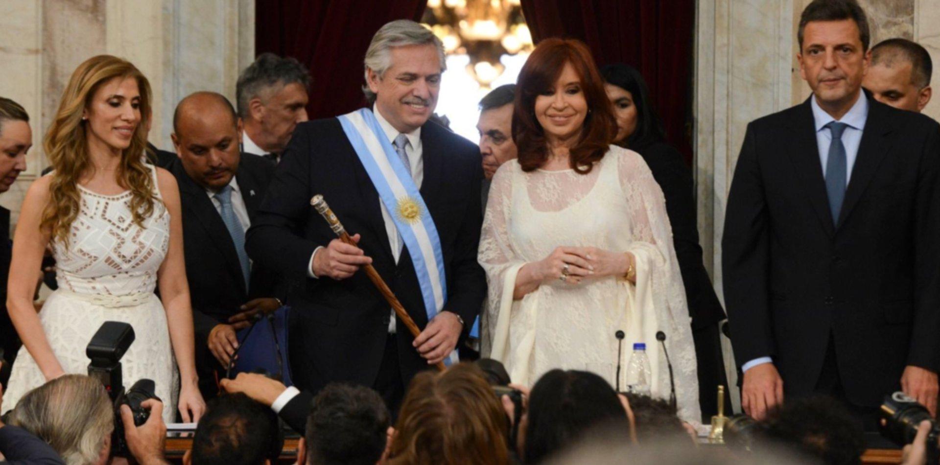 Alberto Fernández y Cristina Kirchner juraron como presidente y vice de la Nación